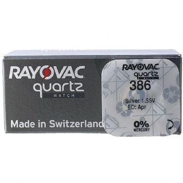 Rayovac 386 SR43W 1.5V Silver Oxide Watch Battery